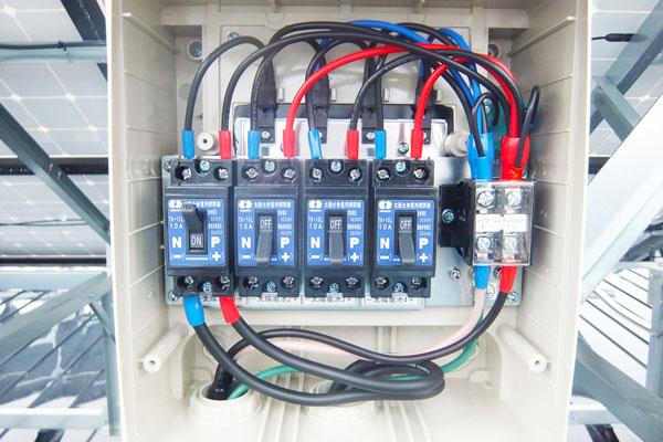 接続箱の通電点検等